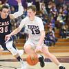 1-22-16<br /> Northwestern vs Cass boys basketball<br /> Northwestern's Peyton Hawk<br /> Kelly Lafferty Gerber | Kokomo Tribune