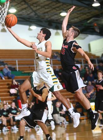1-28-16 EHS boys basketball<br /> Eastern's Trey Thomas and Sheridan's Tommy Glidden<br /> Kelly Lafferty Gerber   Kokomo Tribune