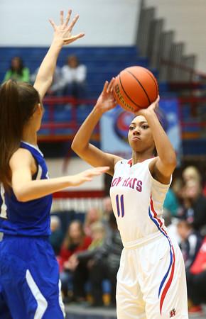 1-19-16<br /> Kokomo vs Tipton girls basketball<br /> Kokomo's Quaynika Merriweather<br /> Kelly Lafferty Gerber | Kokomo Tribune