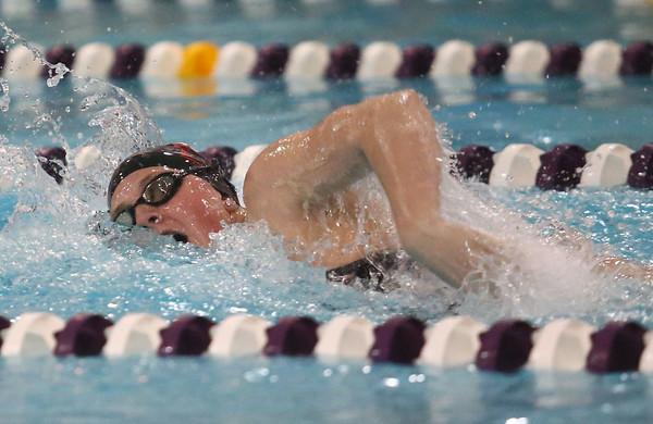 1-26-16 NWHS vs WHS swim meet<br /> Western's Grace Lupoi in the 50 Y Freestyle<br /> Kelly Lafferty Gerber   Kokomo Tribune