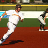 7-30-16<br /> Jackrabbits vs Cavemen<br /> Mitch Stoltzfus runs to third base.<br /> Kelly Lafferty Gerber | Kokomo Tribune