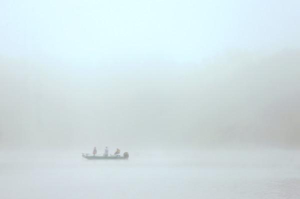 The Kids Fishing Clinic got off to a foggy start at the Kokomo Reservoir on Saturday, July 30, 2016.<br /> Kelly Lafferty Gerber | Kokomo Tribune
