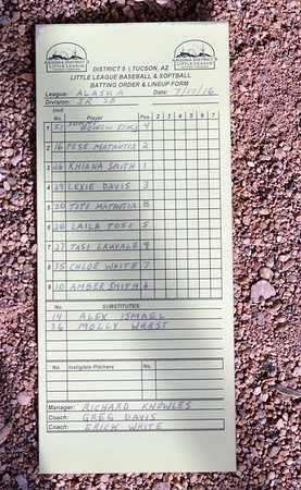 2016 Junior League West Reg Flagstaff Alaska