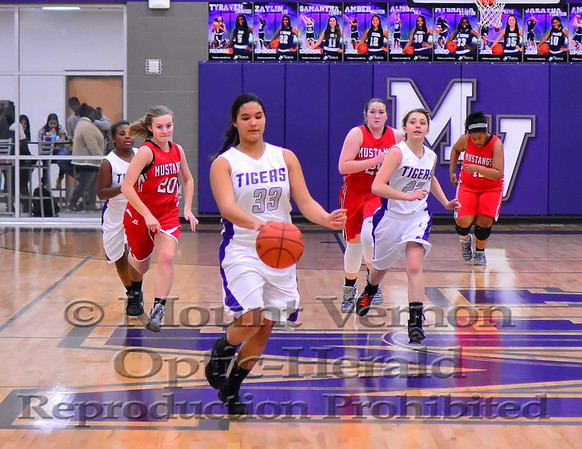 Mount Vernon Junior Varsity Lady Tigers vs Chisum Lady Mustangs Basketball photos