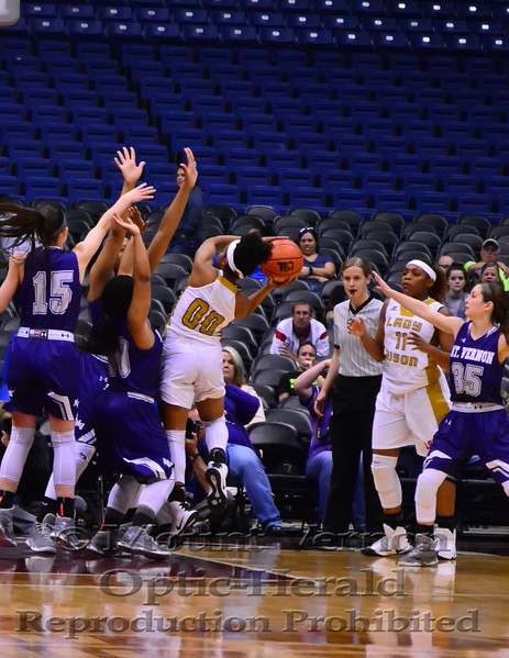 Mount Vernon Varsity Lady Tigers vs Buffalo Lady Bisons State Semi-Finals Basketball photos