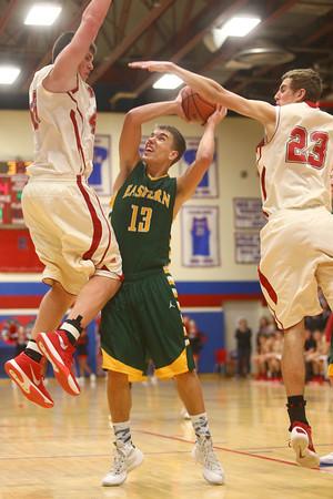 3-5-16<br /> Eastern vs Taylor boys basketball sectional championship<br /> Eastern's Braden Evans<br /> Kelly Lafferty Gerber   Kokomo Tribune