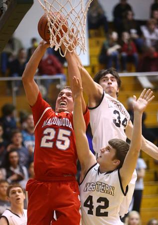 3-4-16<br /> Maconaquah vs Western boys sectional bball<br /> Maconaquah's Luke Hann<br /> Kelly Lafferty Gerber   Kokomo Tribune