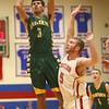 3-5-16<br /> Eastern vs Taylor boys basketball sectional championship<br /> Eastern's Trey Thomas<br /> Kelly Lafferty Gerber | Kokomo Tribune