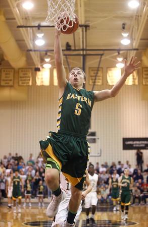 3-12-16<br /> Eastern Boys basketball regional semifinal<br /> Eastern's Tristen Moyers<br /> Kelly Lafferty Gerber | Kokomo Tribune