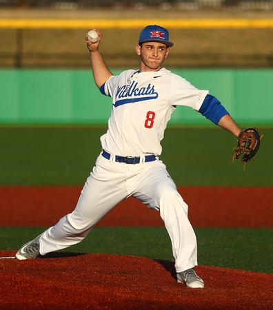 3-29-16<br /> Kokomo vs Huntington North baseball<br /> Kokomo's Noah Hurlock pitches.<br /> Kelly Lafferty Gerber   Kokomo Tribune