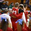 3-4-16<br /> Maconaquah vs Western boys sectional bball<br /> Wyatt Hughes and Brayden Marley hug after Maconaquah wins.<br /> Kelly Lafferty Gerber | Kokomo Tribune