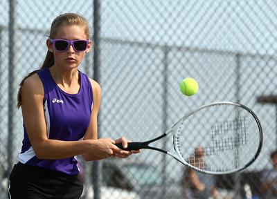 5-6-16 Western vs Northwestern girls tennis Northwestern 1 singles Kelsie Blacklidge Kelly Lafferty Gerber | Kokomo Tribune