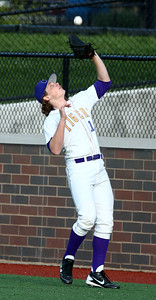 5-5-16 Eastern vs Northwestern baseball Northwestern's Jason Smith makes the catch for an out. Kelly Lafferty Gerber | Kokomo Tribune
