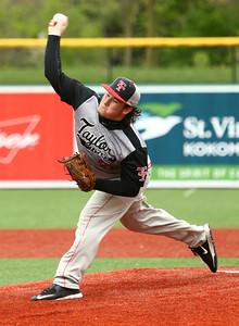 5-7-16 Taylor vs Tri Central baseball Noah Poe pitches. Kelly Lafferty Gerber | Kokomo Tribune