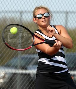 5-6-16 Western vs Northwestern girls tennis Western 2 singles Kenzie Quinn Kelly Lafferty Gerber | Kokomo Tribune
