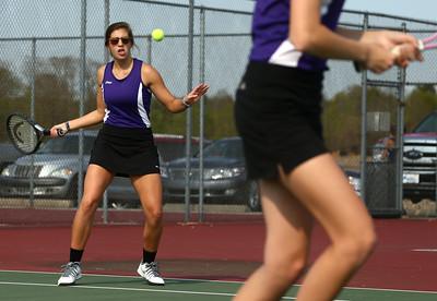 5-6-16 Western vs Northwestern girls tennis Northwestern 2 doubles Sarah Vas Kelly Lafferty Gerber | Kokomo Tribune