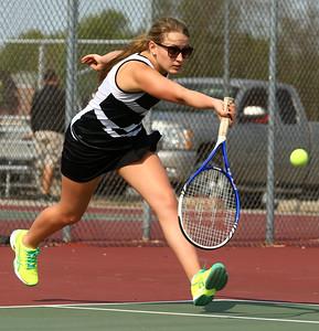 5-6-16 Western vs Northwestern girls tennis Western 2 doubles Andrea Peterson Kelly Lafferty Gerber | Kokomo Tribune