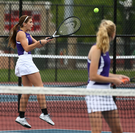 5-20-16 Northwestern's 2 doubles Emily Martin and Sarah Vas. Kelly Lafferty Gerber | Kokomo Tribune