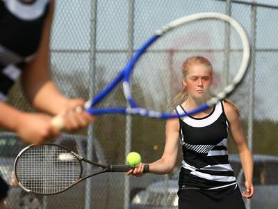 5-6-16 Western vs Northwestern girls tennis Western 2 doubles Lexi Lipinski Kelly Lafferty Gerber | Kokomo Tribune