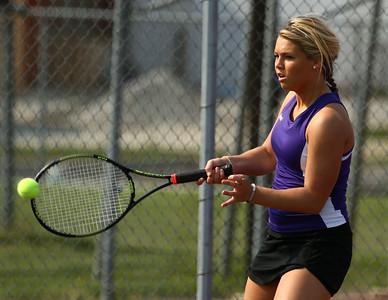 5-6-16 Western vs Northwestern girls tennis Northwestern 3 singles Morgan Mercer Kelly Lafferty Gerber | Kokomo Tribune
