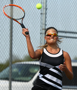 5-6-16 Western vs Northwestern girls tennis Western 1 singles Brooke Jansen Kelly Lafferty Gerber | Kokomo Tribune