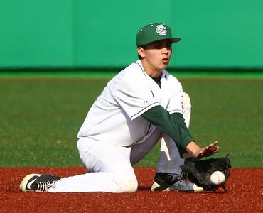 5-5-16 Eastern vs Northwestern baseball Eastern's Mason Edwards scoops up the ball. Kelly Lafferty Gerber | Kokomo Tribune