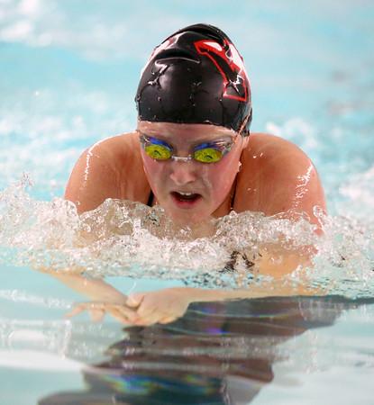 11-15-16<br /> Kokomo vs Western girls swimming<br /> Western's Emma Shoemaker in the 200 Yard Medley Relay<br /> Kelly Lafferty Gerber | Kokomo Tribune