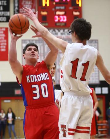 11-9-16<br /> Unified Basketball<br /> Kokomo's David Bubner goes up for a shot.<br /> Kelly Lafferty Gerber | Kokomo Tribune