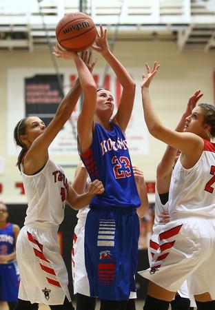 11-9-16<br /> Taylor vs Kokomo girls basketball<br /> Kylee Lauderbaugh shoots.<br /> Kelly Lafferty Gerber | Kokomo Tribune
