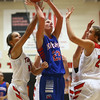 11-9-16<br /> Taylor vs Kokomo girls basketball<br /> Kylee Lauderbaugh shoots.<br /> Kelly Lafferty Gerber | Kokomo Tribune