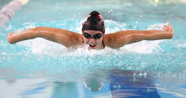 11-15-16<br /> Kokomo vs Western girls swimming<br /> Western's Claire Casner in the 100 Yard butterfly<br /> Kelly Lafferty Gerber | Kokomo Tribune