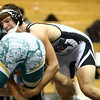 11-19-16<br /> Western wrestling<br /> Western's Braxton Erb in the 195 against BC's Bryson Ford.<br /> Kelly Lafferty Gerber | Kokomo Tribune