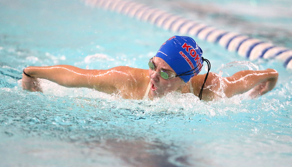 11-15-16<br /> Kokomo vs Western girls swimming<br /> Kokomo's Brooke Dill in the 100 Yard Butterfly<br /> Kelly Lafferty Gerber | Kokomo Tribune