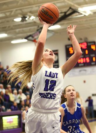 11-12-16<br /> Northwestern vs Carroll girls basketball<br /> Northwestern's Brianna Hahn shoots.<br /> Kelly Lafferty Gerber | Kokomo Tribune