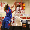 11-9-16<br /> Taylor vs Kokomo girls basketball<br /> Taylor's Brooke McGuire grabs the rebound.<br /> Kelly Lafferty Gerber | Kokomo Tribune