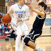 11-29-16<br /> Maconaquah boys basketball<br /> Wyatt Hughes looks to get around Rochester defense.<br /> Kelly Lafferty Gerber | Kokomo Tribune