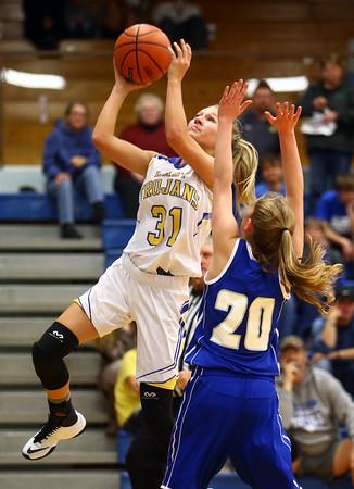 11-10-16<br /> Tri Central vs Tipton girls basketball<br /> Tri Central's Emily Richard puts up a shot.<br /> Kelly Lafferty Gerber   Kokomo Tribune