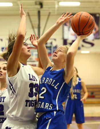11-12-16<br /> Northwestern vs Carroll girls basketball<br /> Carroll's Victoria Bagwell shoots.<br /> Kelly Lafferty Gerber | Kokomo Tribune