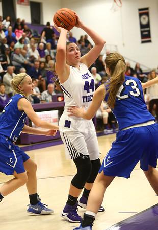 11-12-16<br /> Northwestern vs Carroll girls basketball<br /> Northwestern's Kendall Bostic shoots.<br /> Kelly Lafferty Gerber | Kokomo Tribune