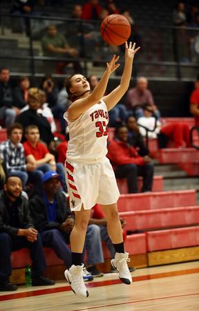 11-9-16<br /> Taylor vs Kokomo girls basketball<br /> Taylor's Lanee Butzin puts up a shot.<br /> Kelly Lafferty Gerber   Kokomo Tribune