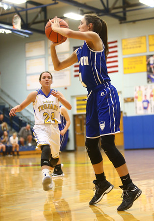 11-10-16<br /> Tri Central vs Tipton girls basketball<br /> Tipton's Cassidy Crawford shoots.<br /> Kelly Lafferty Gerber   Kokomo Tribune