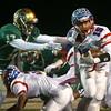 11-11-16<br /> Kokomo vs Westfield regional football<br /> Kokomo's Perry McCullum runs the ball.<br /> Kelly Lafferty Gerber | Kokomo Tribune