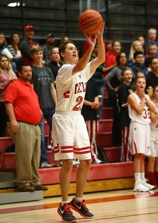 11-9-16<br /> Unified Basketball<br /> Taylor's Caleb Gorzell goes for a shot.<br /> Kelly Lafferty Gerber | Kokomo Tribune