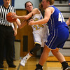 11-10-16<br /> Tri Central vs Tipton girls basketball<br /> Tri Central's Taylor Davis looks for a pass before she steps out of bounds.<br /> Kelly Lafferty Gerber | Kokomo Tribune