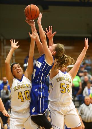 11-10-16<br /> Tri Central vs Tipton girls basketball<br /> Tipton's Lexi Altherr puts up a shot.<br /> Kelly Lafferty Gerber | Kokomo Tribune