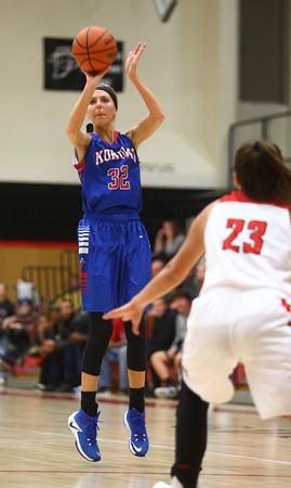 11-9-16<br /> Taylor vs Kokomo girls basketball<br /> Kokomo's Brittany Barnard shoots.<br /> Kelly Lafferty Gerber   Kokomo Tribune