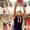 11-26-16<br /> Taylor vs Cass boys basketball<br /> Cass' Alec Eurit grabs a rebound.<br /> Kelly Lafferty Gerber | Kokomo Tribune