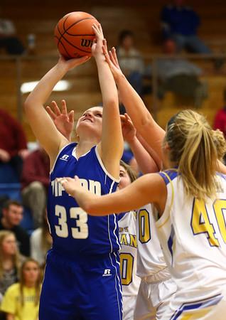 11-10-16<br /> Tri Central vs Tipton girls basketball<br /> Tipton's Lauren Shively puts up a shot.<br /> Kelly Lafferty Gerber | Kokomo Tribune