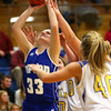 11-10-16<br /> Tri Central vs Tipton girls basketball<br /> Tipton's Lauren Shively puts up a shot.<br /> Kelly Lafferty Gerber | Kokomo Tribune