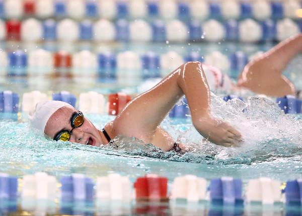 11-15-16<br /> Kokomo vs Western girls swimming<br /> Western's Sophia Pate in the 500 Yard Freestyle<br /> Kelly Lafferty Gerber   Kokomo Tribune